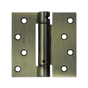 "4""x 4"" Spring Hinge, UL Listed - Antique Brass"