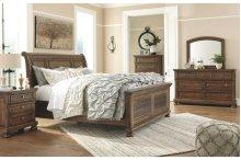 Flynnter Queen Bedroom Group: Queen Bed, Nightstand, Dresser & Mirror