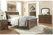 Flynnter King Bedroom Set: King Bed, Nightstand, Dresser & Mirror