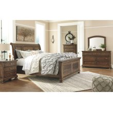 Flynnter Queen Bedroom Set: Queen Bed, Nightstand, Dresser & Mirror