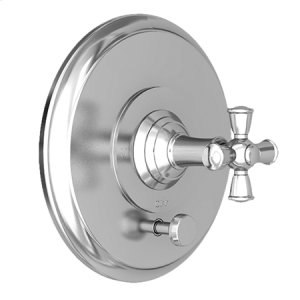 Antique Brass Balanced Pressure Tub & Shower Diverter Plate with Handle. Less Showerhead, arm and flange.