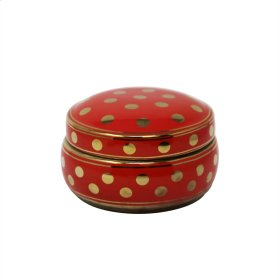 Red/gold Polka Dot Box 7""