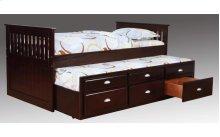 3040VTR/ES/DR  Logan Merlot Captain's Bed