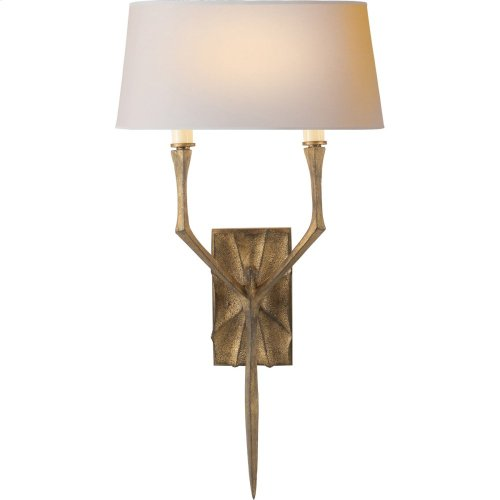 Visual Comfort S2121GI-NP Studio Bristol 2 Light 12 inch Gilded Iron with Wax Decorative Wall Light