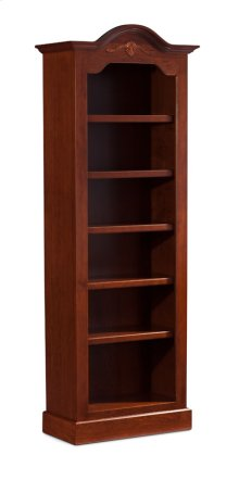 "Classic Arch Top Narrow Bookcase, Classic Arch Top Narrow Bookcase, 4-Adjustable Shelves, 27""w"