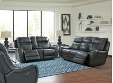 Power Dual Reclining Console Loveseat With Power Headrest and Usb Charging Port