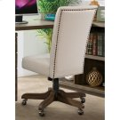 Perspectives - Upholstered Back Desk Chair - Brushed Acacia Finish Product Image