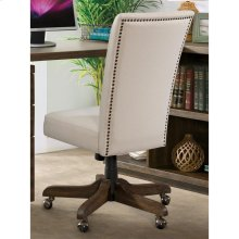 Perspectives - Upholstered Back Desk Chair - Brushed Acacia Finish