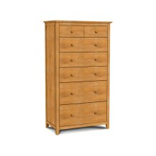 Lancaster 7-Drawer Carriage Chest. Solid wood panel sides & full extension drawer glides