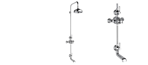 "Non-lacquered Brass Fairfield Exposed 3/4"" Thermostatic Shower Set"