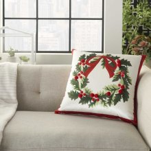 """Home for the Holiday L8527 Multicolor 18"""" X 18"""" Throw Pillows"""