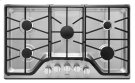 36-inch Wide Gas Cooktop with DuraGuard Protective Finish Product Image