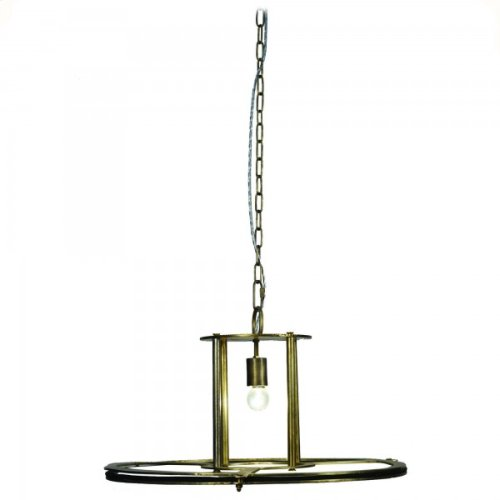 1 Light Pendant in Antique brass Finish Large