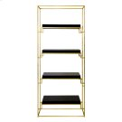 Gold Leaf Etagere With Black Lacquer Shelves Product Image