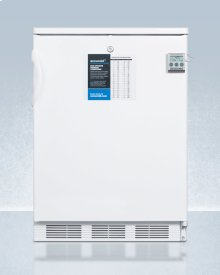 Built-in General Purpose Refrigerator-freezer With Dual Evaporator Cooling, Nist Calibrated Thermometer, Internal Fan, and Front Lock