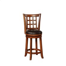 Traditional Brown Swivel Bar Stool
