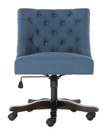 Soho Tufted Linen Swivel Desk Chair - Navy