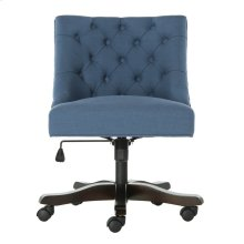 Soho Tufted Linen Swivel Desk Chair - Navy