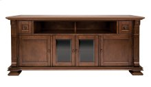 Mocha Finish Wood Home Entertainment Cabinet