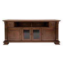 Mocha Finish Wood Home Entertainment Cabinet