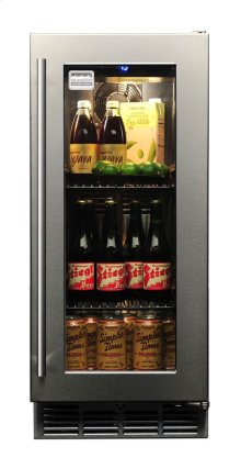 Signature 15-inch Outdoor Refrigerator with Glass Door