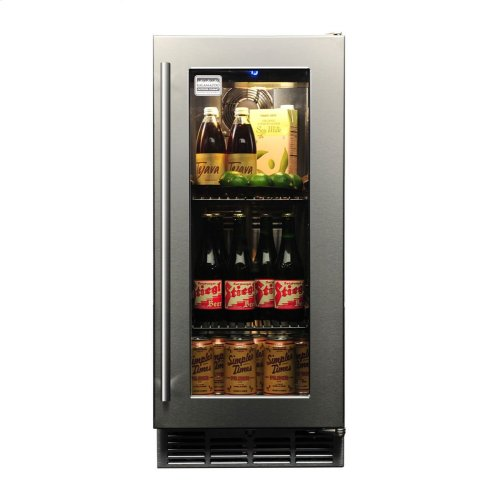Khp15ro3 In By Kalamazoo Lebanon Mo Signature 15 Inch Outdoor Refrigerator With Gl Door