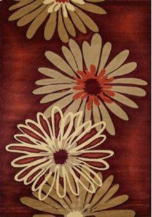 Contours Dahlia Terracotta Rugs