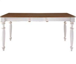 Extension Table Alabaster & Espresso