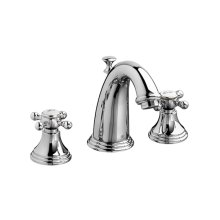 Ashbee Widespread Bathroom Faucet with Cross Handles - Polished Chrome