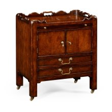 George III Style Mahogany Bedside Cabinet