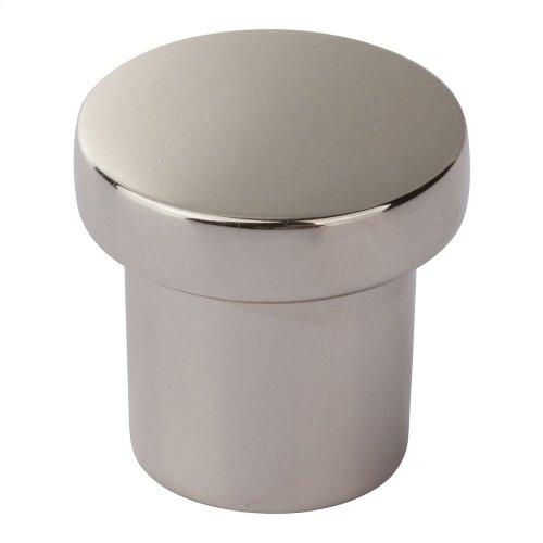Chunky Round Knob Small 1 Inch - Polished Nickel