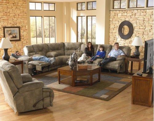 """Lay Flat"" Recl Sofa - Slate"