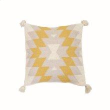 18X18 Hand Woven Wilder Pillow Mustard