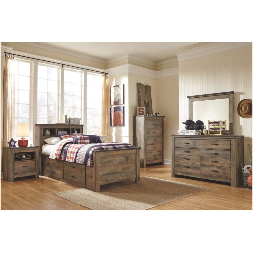 Twin Bookcase Bed w/ Storage