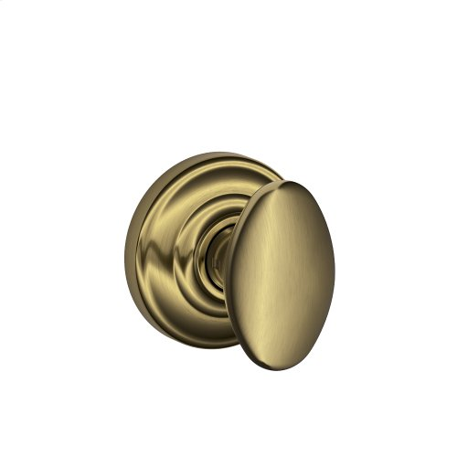 Siena Knob with Andover Trim Hall & Closet Lock - Antique Brass