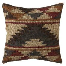Grey & Tan Tribal Kilim Pillow.