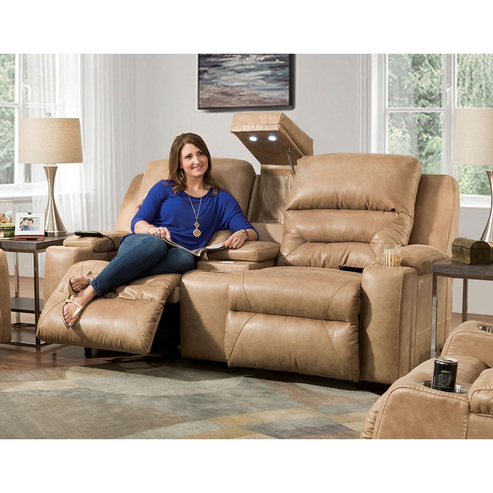 Power Recline / Power Headrest / Power Lumbar Reclining Sofa W/Wand / Fold  Down