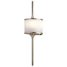 Mona Collection Mona 2 Light Halogen Wall Sconce in CLP