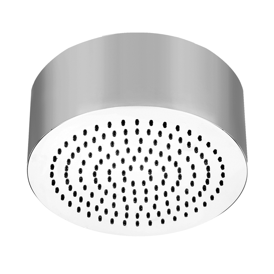 """Round SEGNI ceiling-mounted shower head 1/2"""" connections Projection from ceiling 3-9/16"""" Max flow rate 2"""