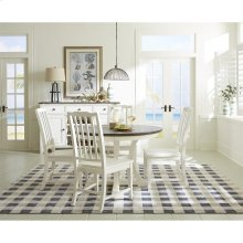 Grand Haven - Round Dining Table Top - Feathered White Finish