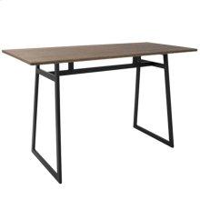 Geo Counter Table - Black Metal, Brown Bamboo