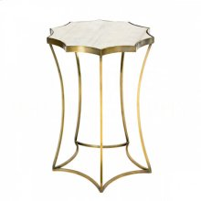 Astre Antique Brass Side Table