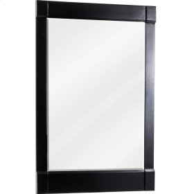 "22"" x 34"" Beveled glass mirror with Espresso finish."