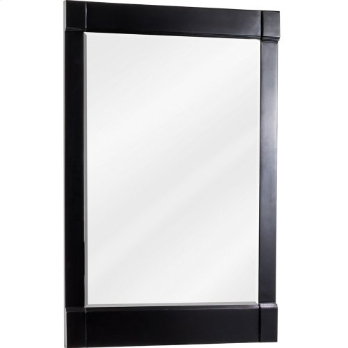 "22"" x 34"" Beveled glass mirror with Espresso finish."