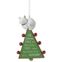 """Oh Christmas Tree"" Cat Ornament."