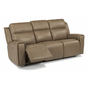 Fabulous 168762Phflexsteel Jasper Leather Power Reclining Sofa With Caraccident5 Cool Chair Designs And Ideas Caraccident5Info
