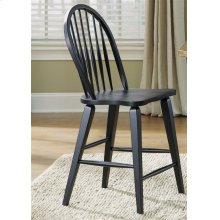 Windsor Back Counter Chair - Black