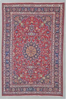"""PERSIAN 000033149 IN RED NAVY 6'-6"""" x 9'-9"""""""