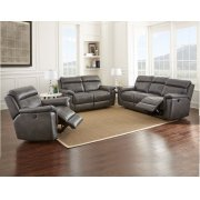 "Dakota Recliner Sofa Gray, 87""x40""x40"" Product Image"
