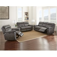 "Dakota Recliner Loveseat Gray, 66.5""x40""x40"""